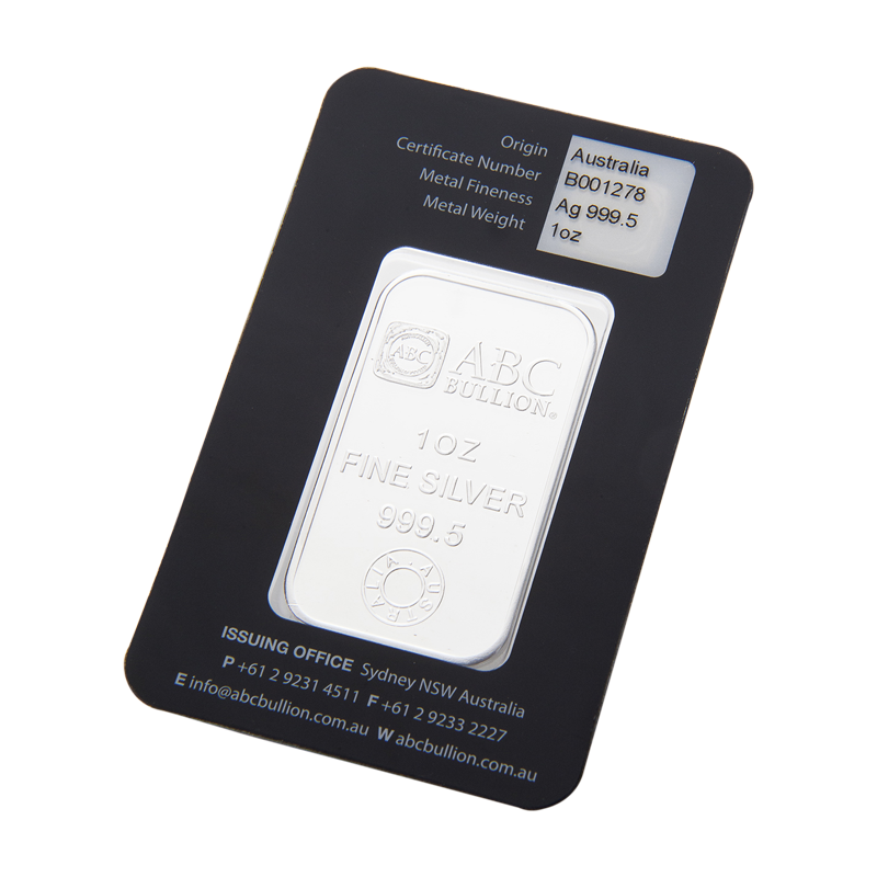 1oz Eureka Silver Bar City Gold Bullion